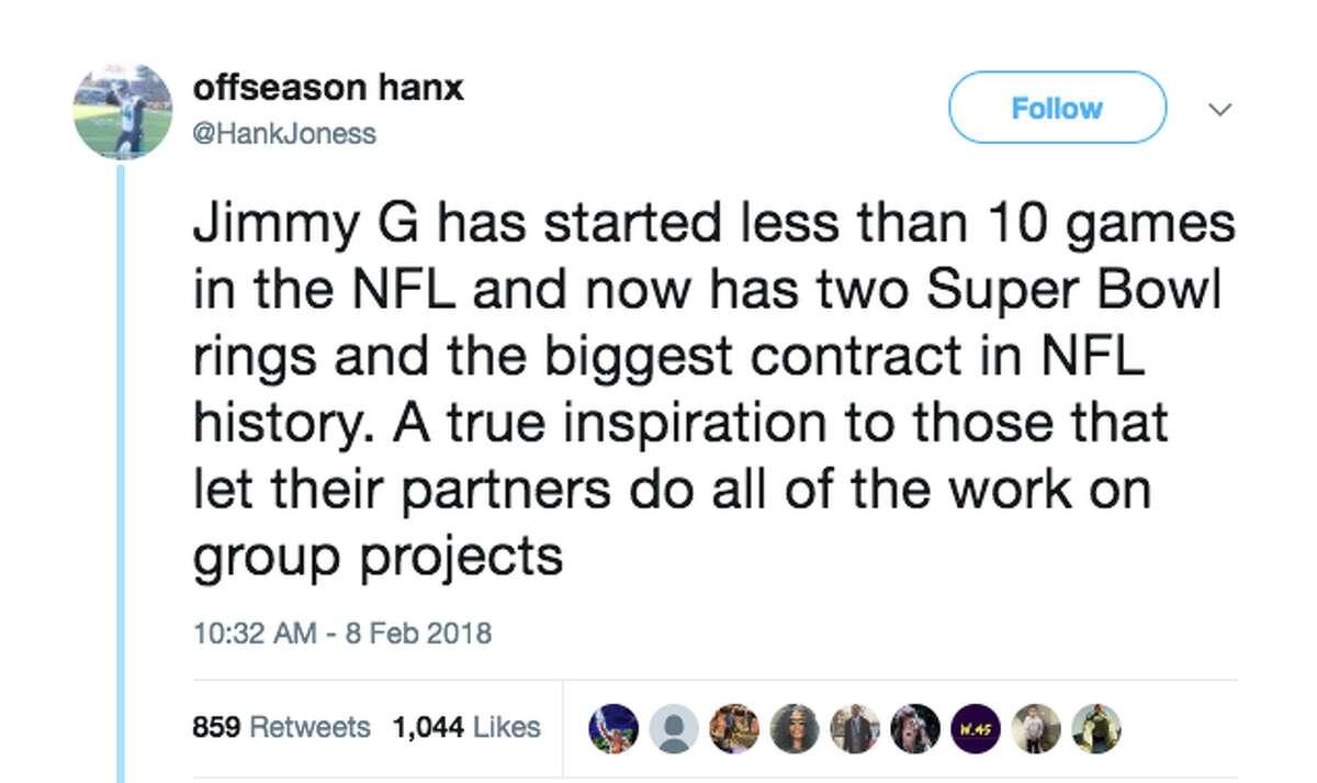 News of 49ers quarterbackJimmy Garoppolo's $137.5 million deal elicited reactions across the internet.