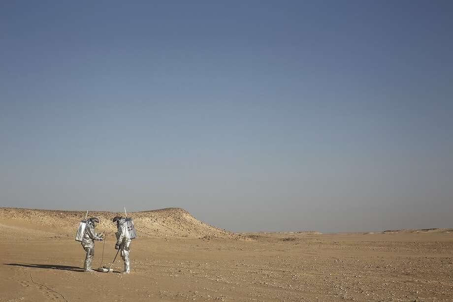 The desolate Omani desert resembles Mars so much that more than 200 scientists from 25 nations are using it to test technology for a manned mission. Photo: Sam McNeil, Associated Press