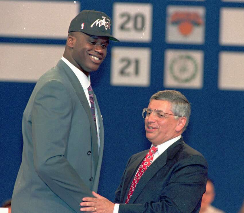 1992: Shaq, the No. 1 overall NBA Draft pick by the Orlando Magic, stormed into the league already a