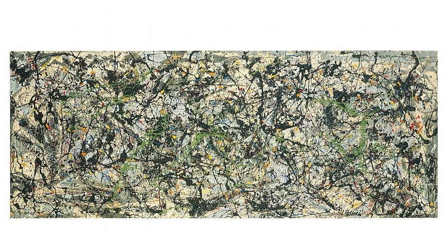 "Nearly nine feet wide, ""Lucifer"" (1947), one of Jackson Pollock's most important works, is now a part of the Anderson Collection at Stanford University. Photo: Anderson Collection"