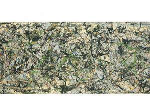 Jackson Pollock, Lucifer, 1947, oil on canvas, 41 3/16 X 105 1/2 in., Anderson Collection at Stanford University, Gift of Harry W. and Mary Margaret Anderson, and Mary Patricia Anderson Pence,2014.1.019. � 2014 The Pollock-Krasner Foundation / Artists Rights Society (ARS), New York. Reproduction, including downloading of ARS member works is prohibited by copyright laws and international conventions without the express written permission of Artists Rights Society (ARS), New York.
