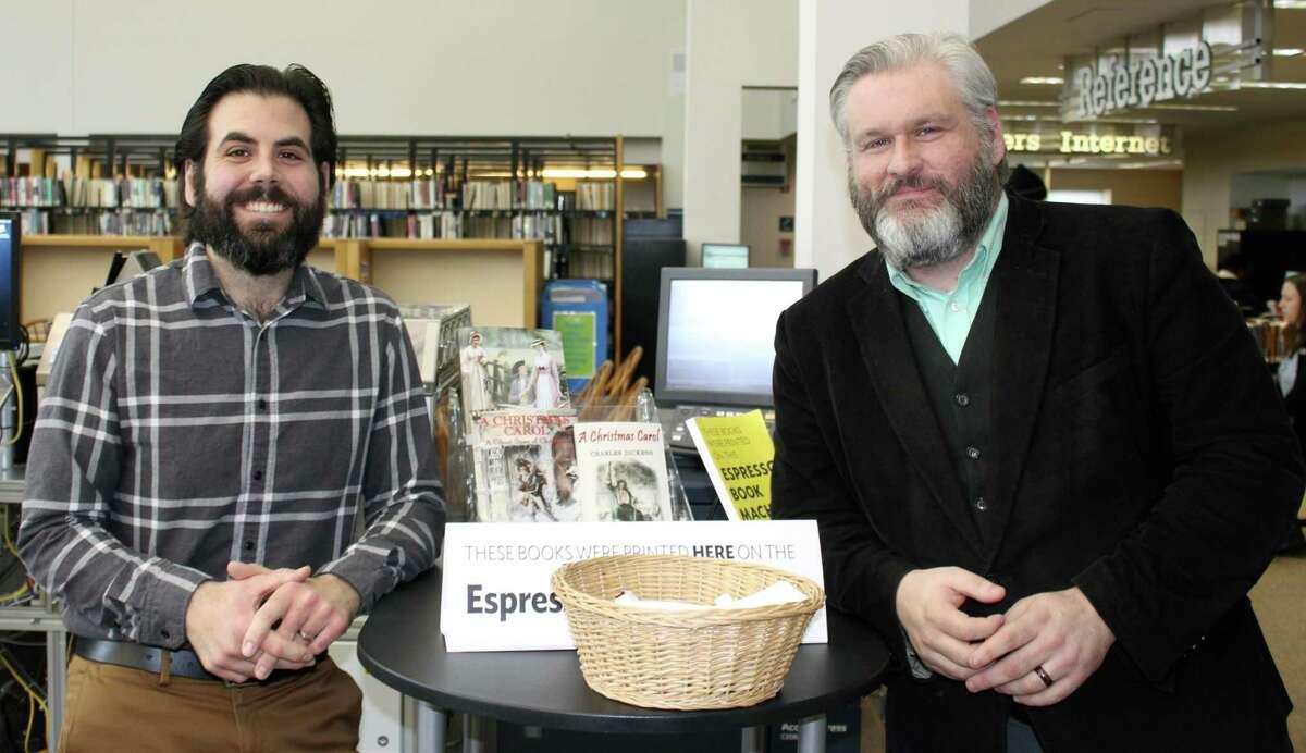 Westport librarians Alex Giannini and Cody Daigle-Orians.