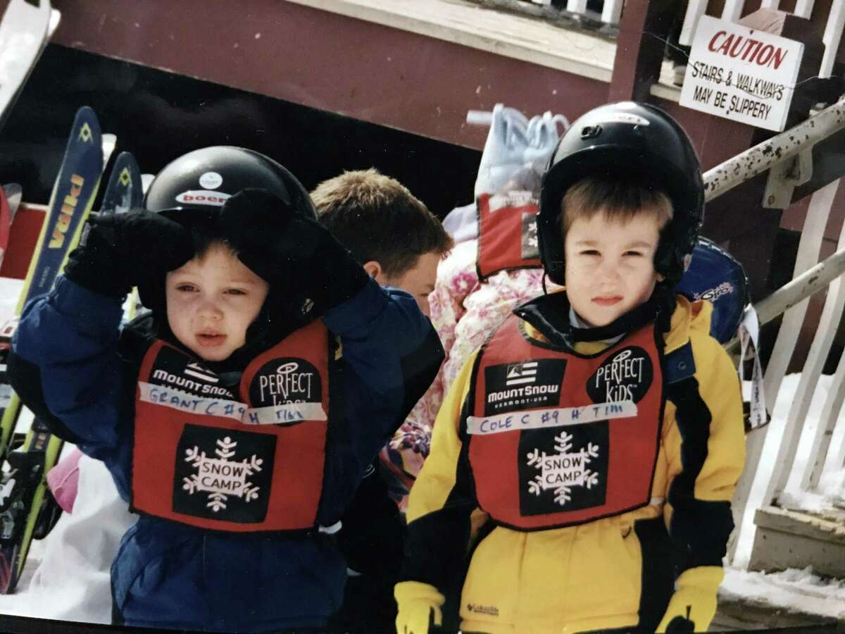 Cole Carnemark, as a child at snow camp. The Fairfield, Conn., native is interning at the Winter Olympics in South Korea.