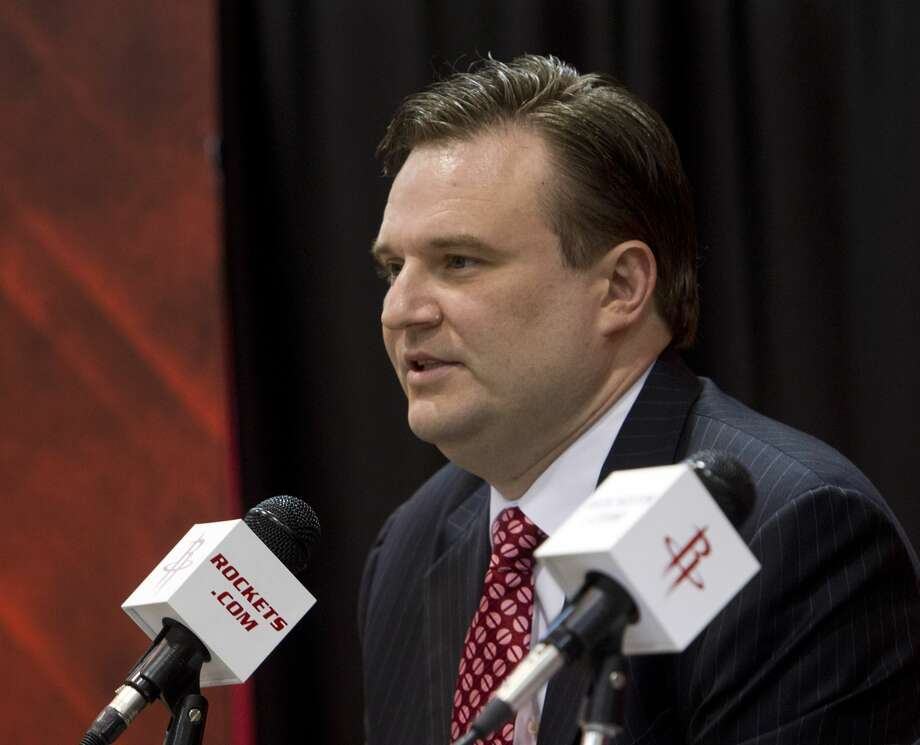 The Rockets, for the first time in Daryl Morey's tenure as general manager, did not agree to a deal at the NBA trade deadline Thursday. Photo: Bob Levey/Getty Images