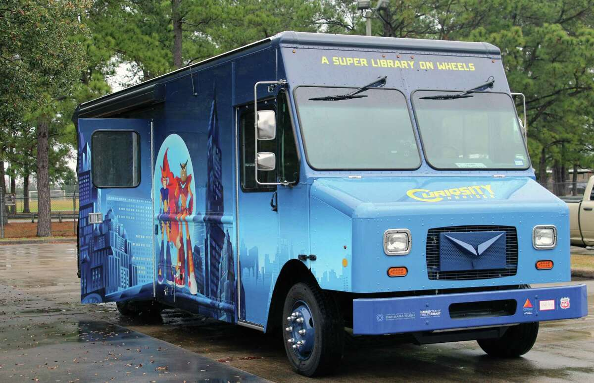 The Curiosity Cruiser stopped by the Crosby Edith Fae Cook Cole Library Branch on Wednesday, Feb. 7 where children were able to decorate their own superhero mask, enjoy story time with superheroes Owlbotron and Northtale and receive a free book.