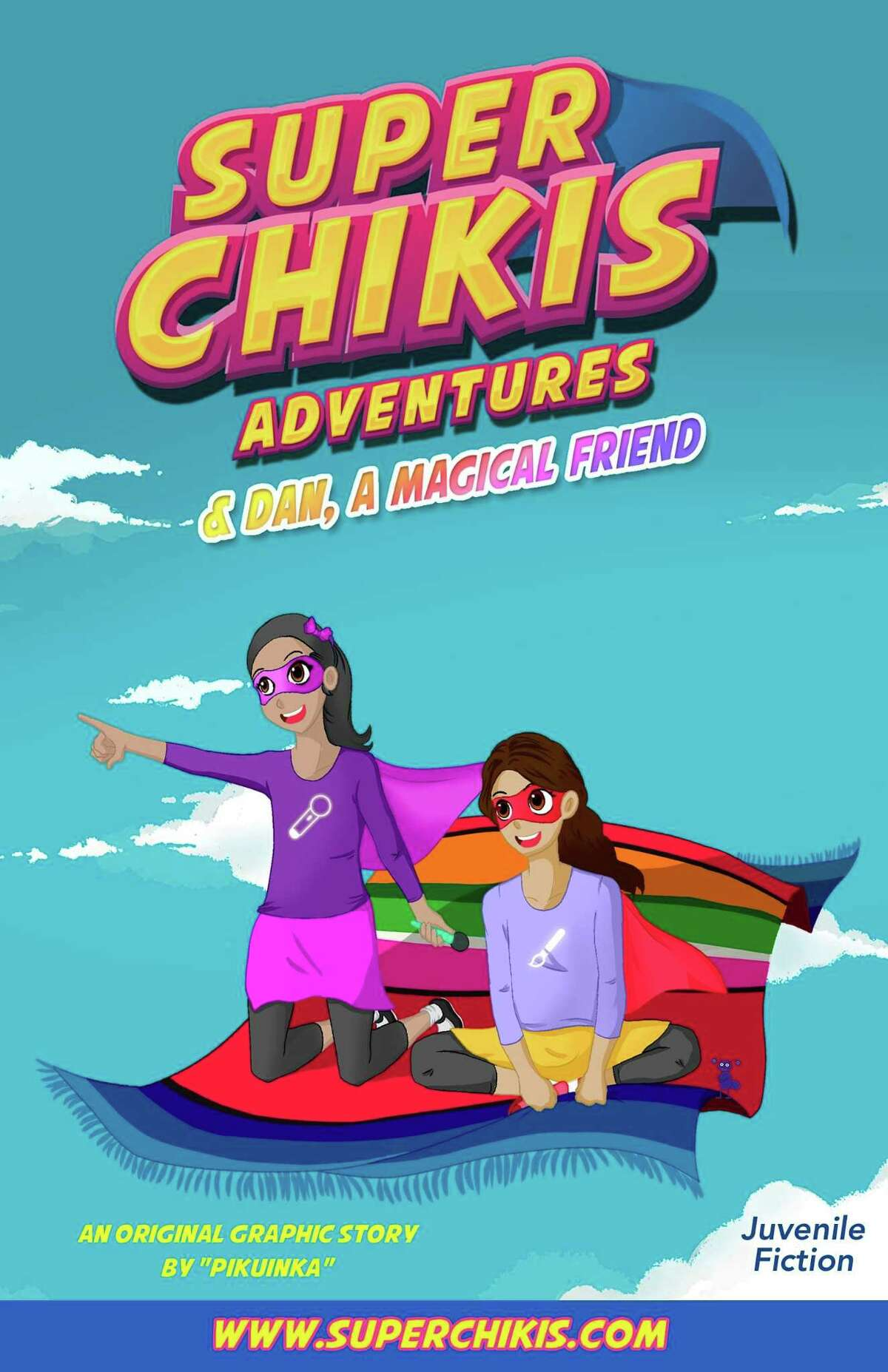 """The first issue of """"Super Chikis Adventures"""" introduces two of the Super Chikis. Super Chikis creator Luz Andrea Diaz based two of the characters on her own daughters, 9-year-old Johana Velazquez and 7-year-old Angela Velazquez"""