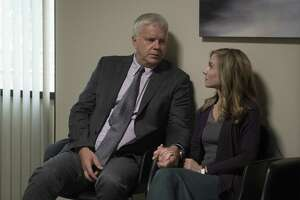 """Tim Robbins and Holly Hunter play the progressive parents of a multiracial family in Alan Ball's new provocative drama """"Here and Now"""" on HBO."""