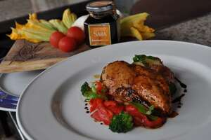 Arcodoro's Pollo E Saba, grilled chicken marinated with Sardinian Saba, a sweet, slightly acidic, syrup made from grape juice it a must try.