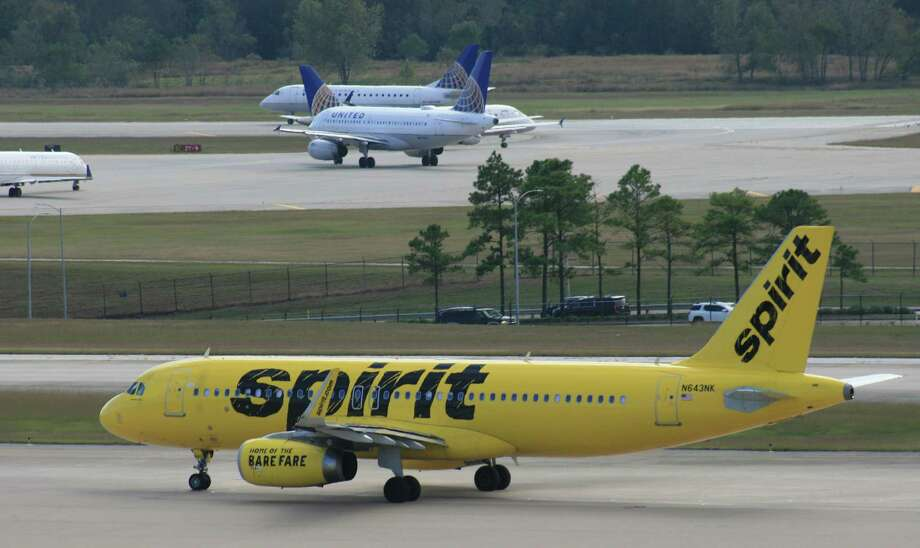 A Spirit Airlines Airbus taxis at Bush Intercontinental Airport.  >>NONSTOP: Where you can fly out of Houston Photo: Bill Montgomery, Houston Chronicle