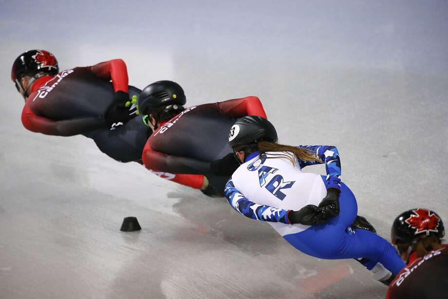 Athletes such as speed skater Ekaterina Efremenkova could make OAR — Olympic Athlete from Russia — a familiar sight in Pyeongchang. Allegations of state-sponsored doping led the Russian Olympic Committee to be banned from the Games. Photo: Jae C. Hong, Associated Press