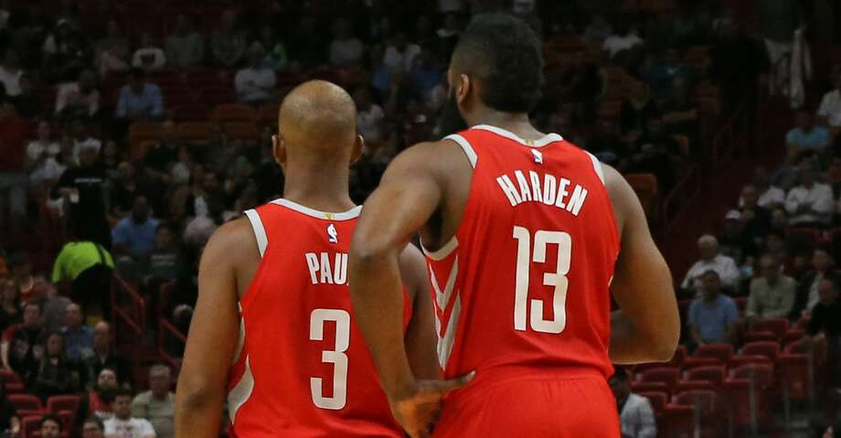 PHOTOS: Rockets game-by-gameJames Harden has long been the NBA's scoring leader this season. But in his past five games, he has taken that to another level.Browse through the photos to see how the Rockets have fared through each game this season. Photo: David Santiago/TNS