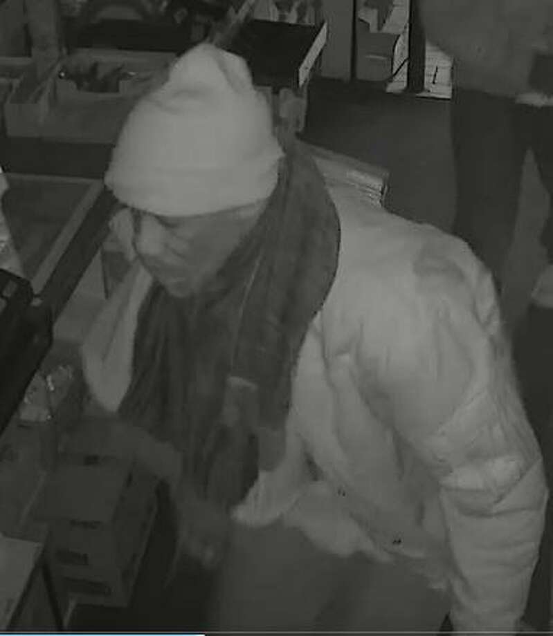 Hamden Police are searching for two  males who allegedly broke into Country Food Market at 2215 State St. around 4:30 a.m. on Feb. 3, 2018. They were seen leaving the location in a large, white pickup truck, possibly a Dodge Ram. Photo: Hamden Police Department / Surveillance Photo