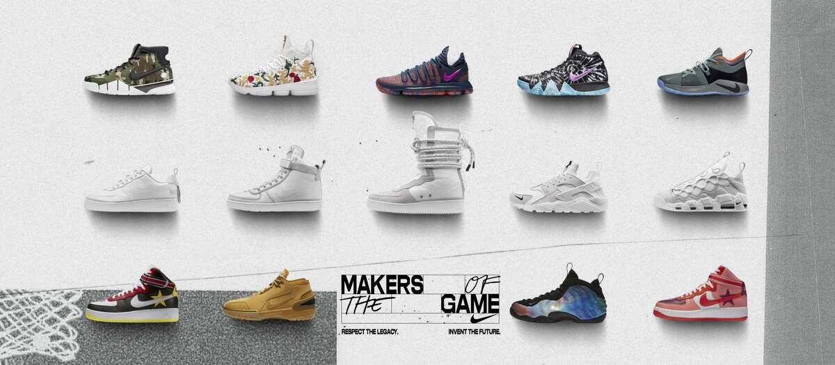 To celebrate the 2018 NBA All-Star Game, Nike partnered with athletes and collaborators to launch special apparel and footwear makeups that serve basketball's unique attitude on and off the court. Here's a first look at what's dropping beginning February 15. Browse through the photos for a closer look at each shoe.