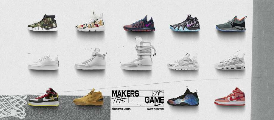 To celebrate the 2018 NBA All-Star Game, Nike partnered with athletes and collaborators to launch special apparel and footwear makeups that serve basketball's unique attitude on and off the court. Here's a first look at what's dropping beginning February 15.Browse through the photos for a closer look at each shoe.  Photo: Nike