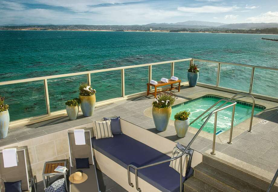 A spa and hot tub overlooking the ocean at the Monterey Plaza Hotel & Spa. Photo: Courtesy�Monterey Plaza Hotel And Spa