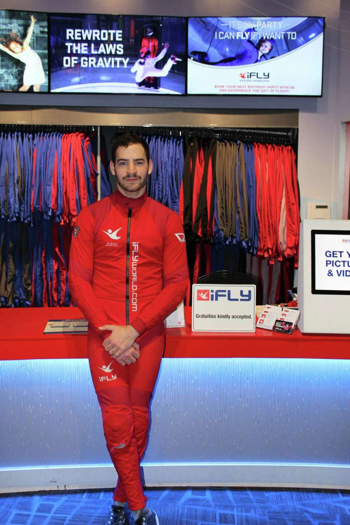 John Wiggins, a flight instructor at iFly Houston in The Woodlands, competes in indoor skydiving competitions and went to the FAI Indoor Skydiving World Championship in October 2017.