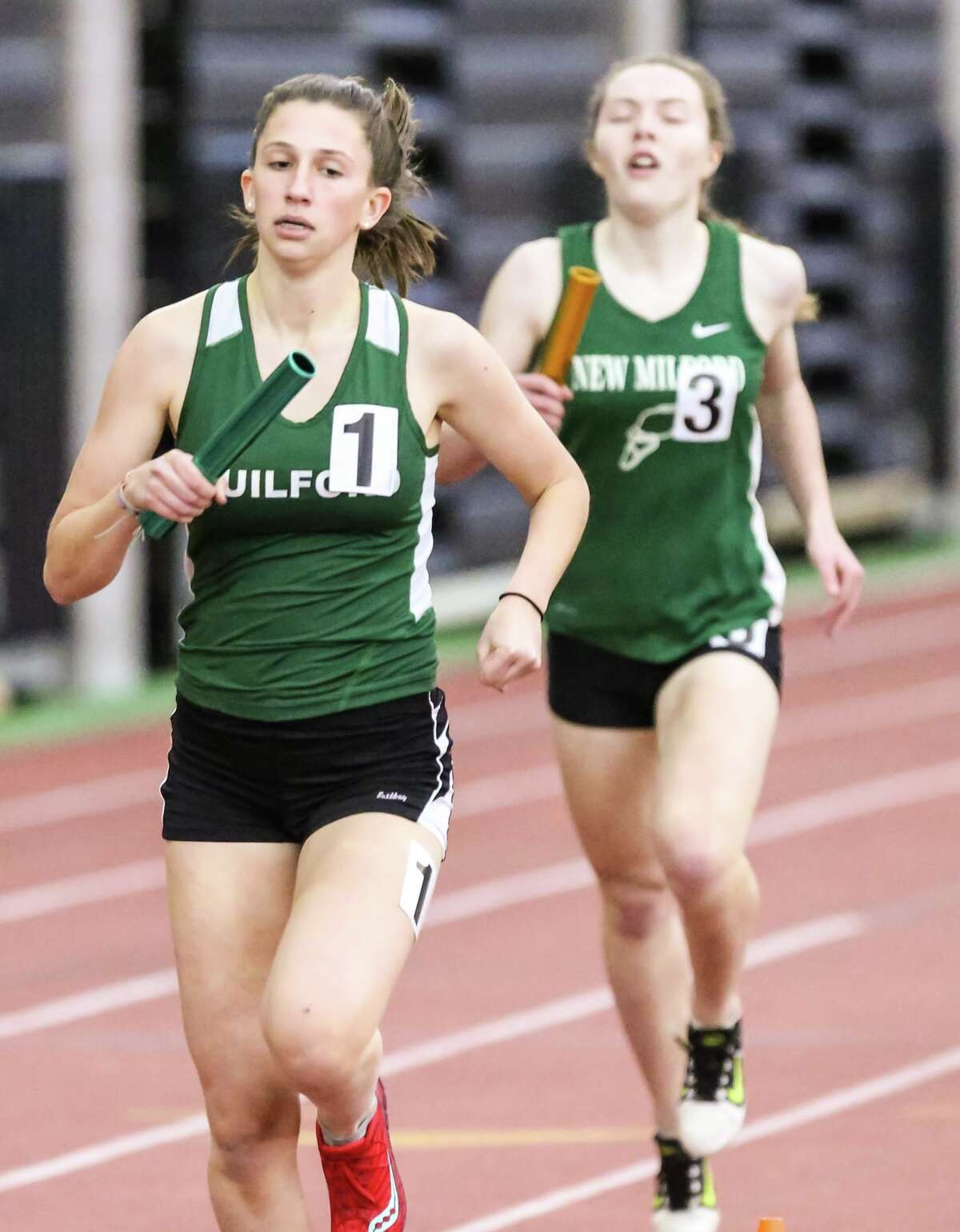 Action from the CIAC Class L state Indoor Track championships held at the Floyd Little Athletic Complex in New Haven Thursday, February 8, 2018.