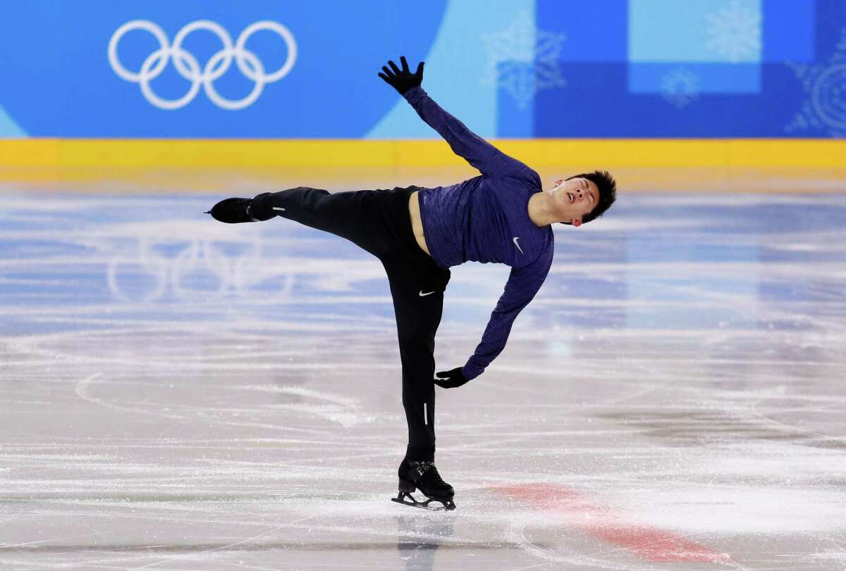 PYEONGCHANG-GUN, SOUTH KOREA - FEBRUARY 07: Nathan Chen of The United States trains during Figure Skating practice ahead of the PyeongChang 2018 Winter Olympic Games at Gangneung Ice Arena on February 7, 2018 in Pyeongchang-gun, South Korea. (Photo by Jamie Squire/Getty Images)