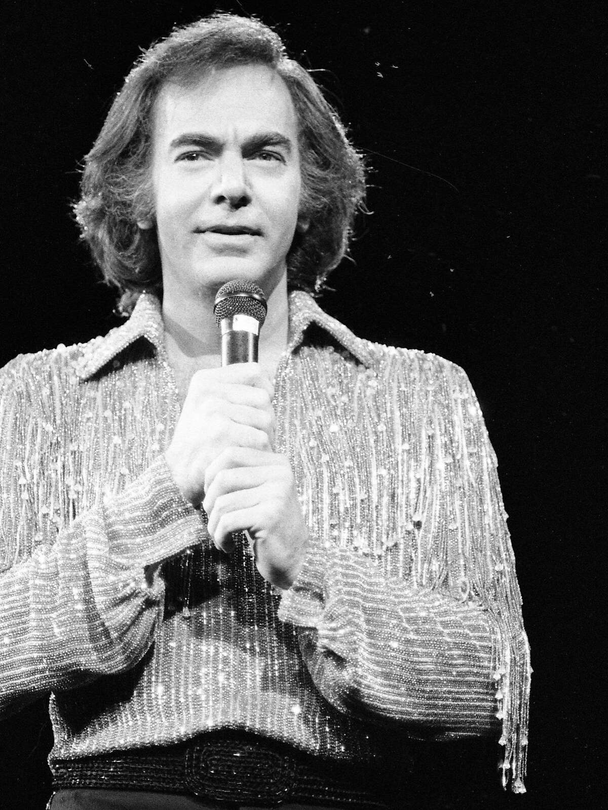 Neil Diamond performs at the Circle Star October 20, 1983