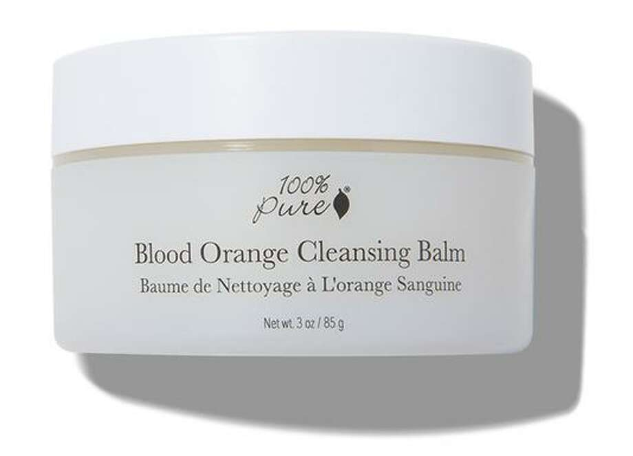 The 100% Pure Blood Orange Cleansing Balm is part of Wang's personal skin-brightening regimen, which she does on Monday and Thursday. Photo: 100 Percent Pure