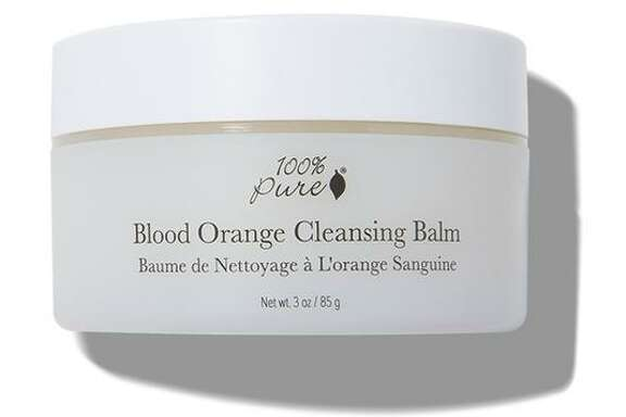 The 100% Pure Blood Orange Cleansing Balm is part of Wang's personal skin-brightening regimen, which she does on Monday and Thursday.