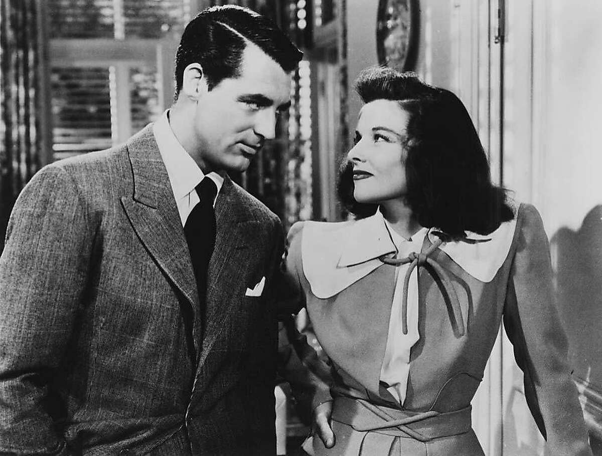 Cary Grant and Katharine Hepburn in