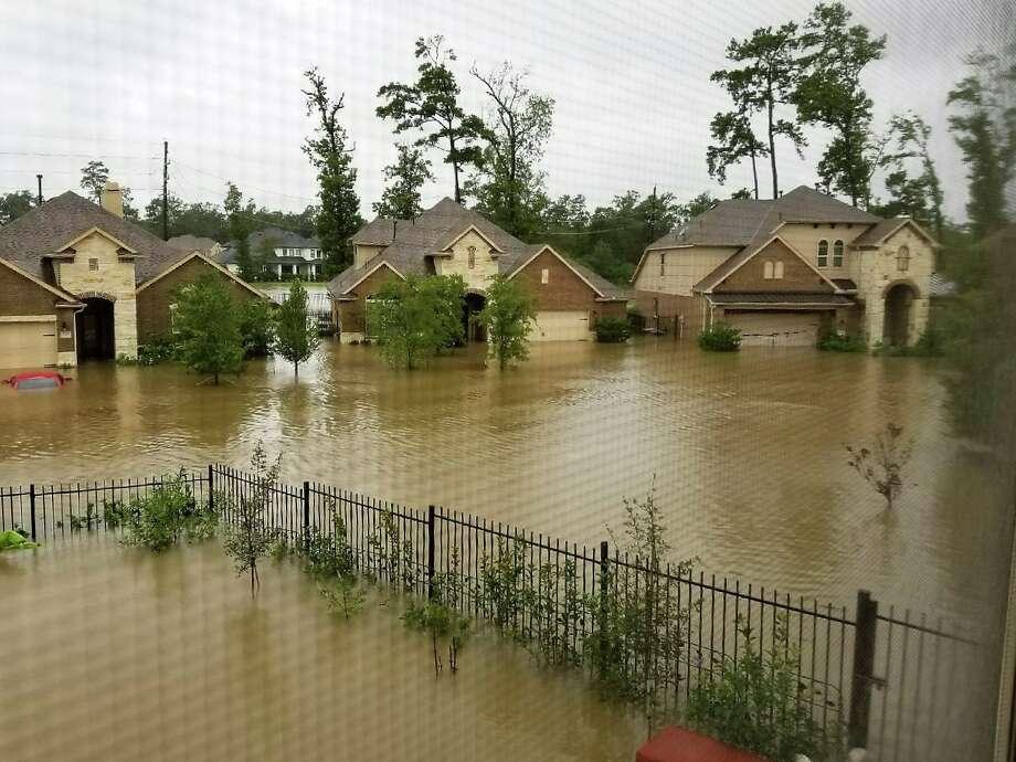 Flooding in The Woodlands during Hurricane Harvey as seen from the second story of the home of Stanley Okazaki, the founder of the group Stop The Flooding In MUD 386. More than 300 homes were flooded in the Timarron and Timarron Lakes area during Harvey. Photo: Handout:: Stanley Okazaki