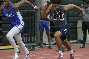 Middletown's Garrett Dandridge won the 55 meters at Thursday's Class L championships in New Haven.