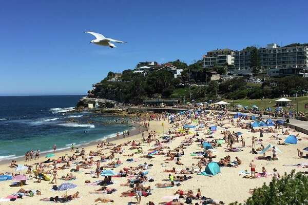 Scenes along the coastal walk from Bronte to Bondi on Saturday, Jan. 20, 2018, in Sydney, Australia.
