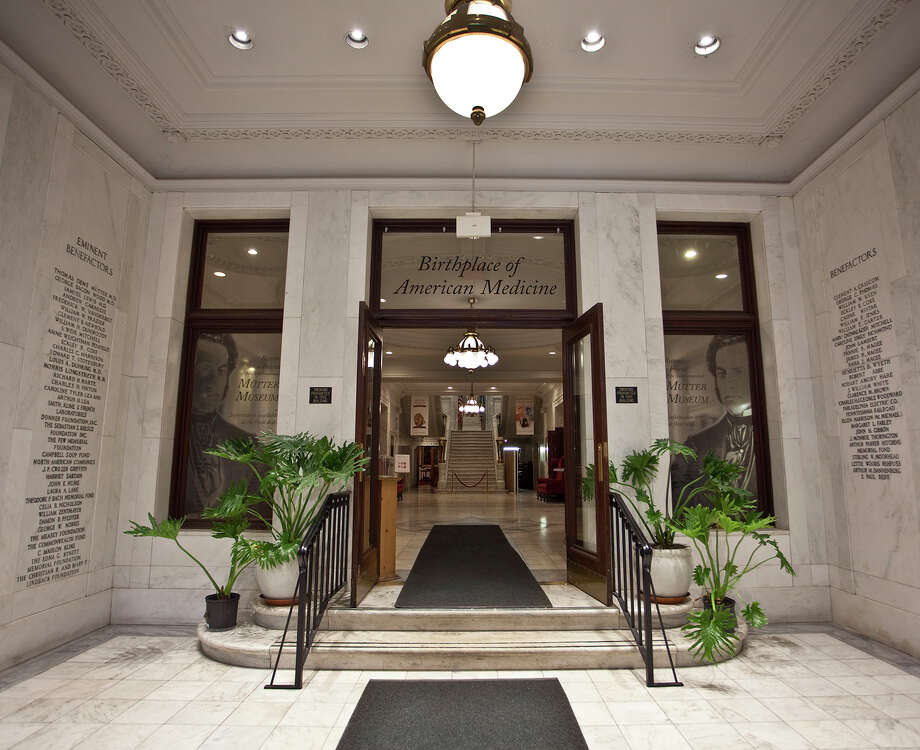 "The lobby entrance of the museum, dubbed ""the birthplace of American medicine."" Photo: Mütter Museum Of The College Of Physicians Of Philadelphia / The Mütter Museum of The College of Physicians of Philadelphia"