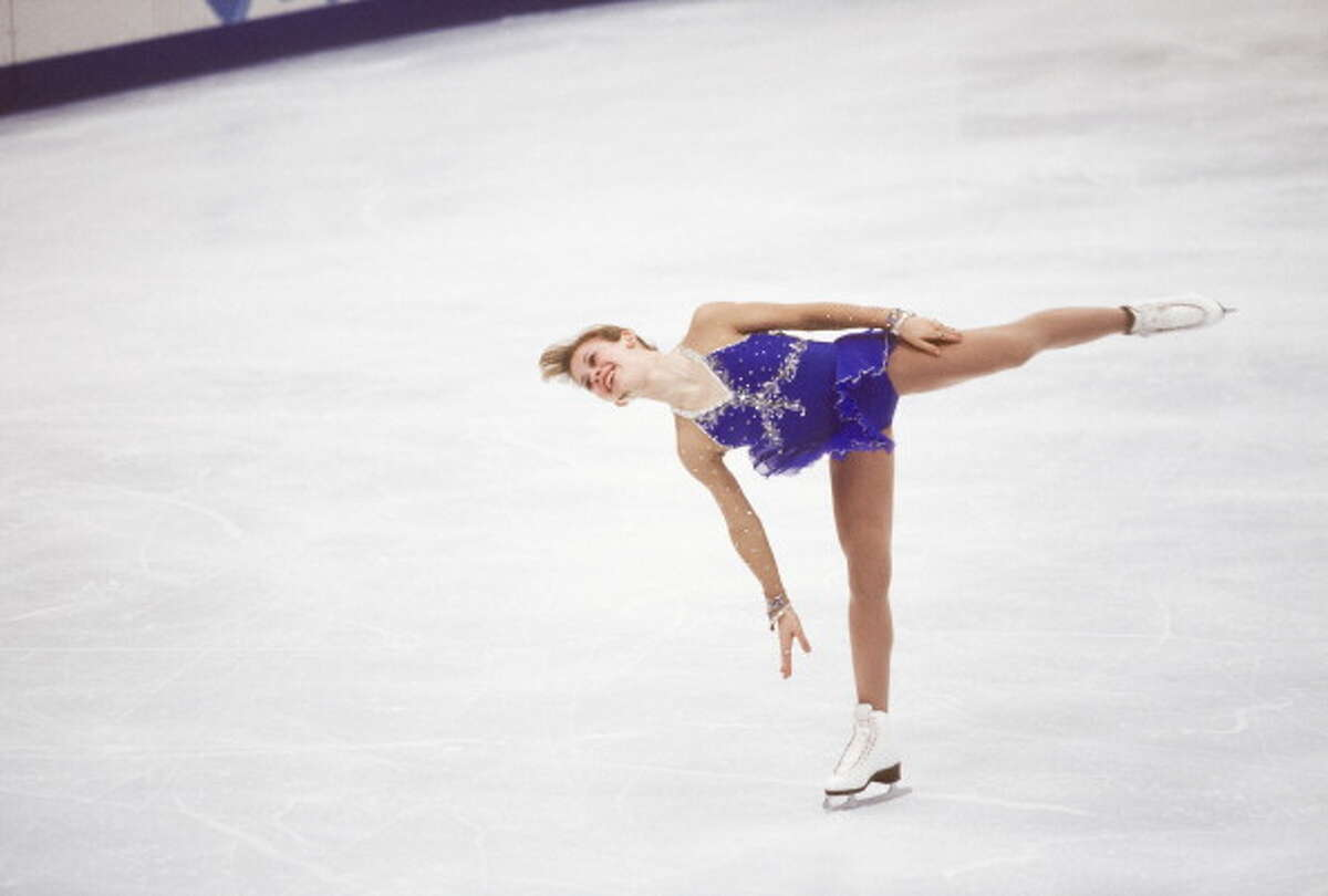 Tara Lipinski (USA) skates in the Free Skate event of the Ladies Singles figure skating competition of the 1998 Winter Olympics on February 20, 1998 in Nagano, Japan.