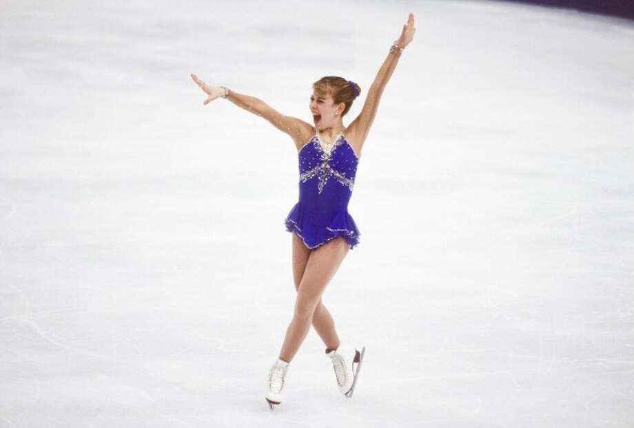 Tara Lipinski (USA) skates in the Free Skate event of the Ladies Singles figure skating competition of the 1998 Winter Olympics on February 20, 1998 in Nagano, Japan.Scroll ahead to see more images from the 1998 Winter Olympics.  Photo: David Madison/Getty Images