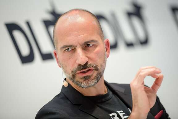 Dara Khosrowshahi, CEO of Uber, speaks on January 22, 2018 at the innovation conference Digital-Life-Design (DLD) in Munich, Germany. (Matthias Balk/DPA/Zuma Press/TNS)