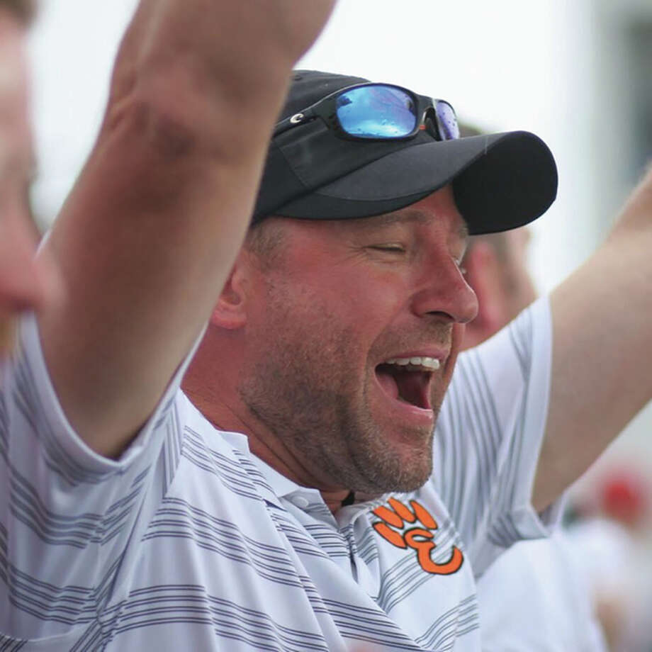 Edwardsville coach Chad Lakatos is the 2015 Telegraph Large-Schools Boys Track Coach of the Year. Photo: File Photo