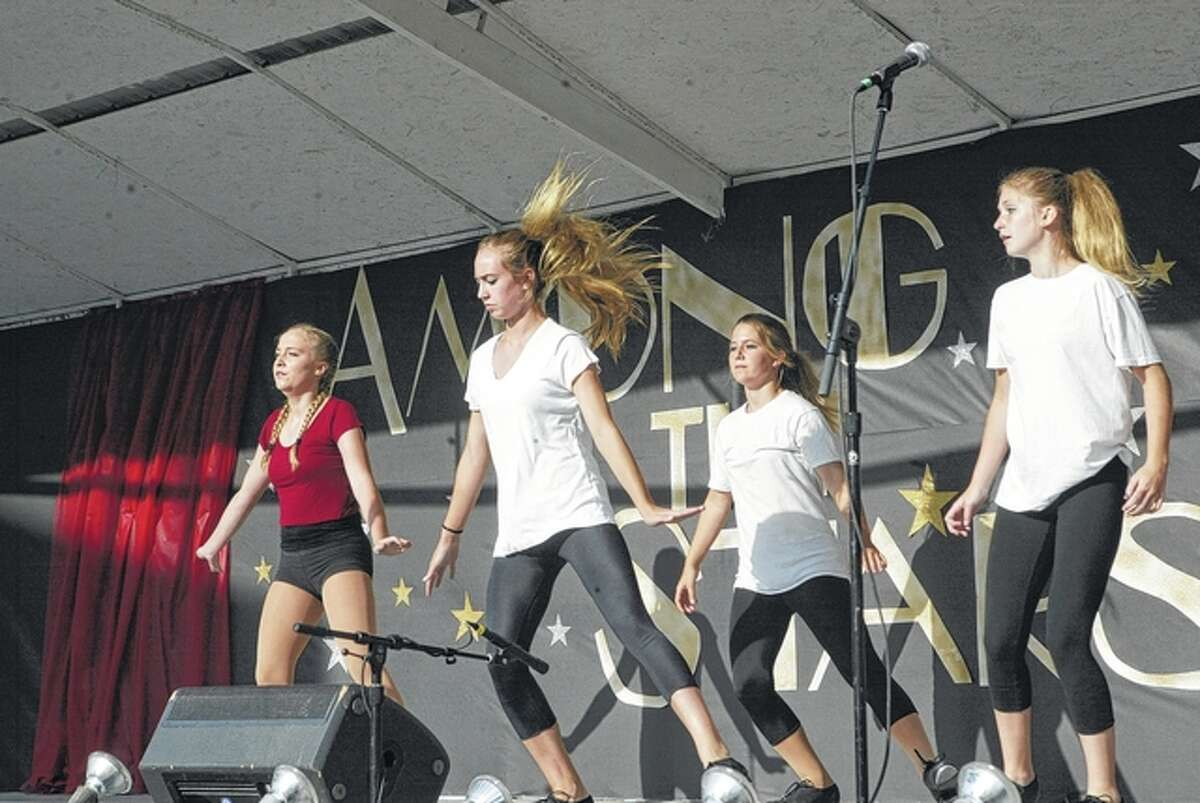Talent show performers entertain a grandstand crowd Tuesday at the Brown County Fair.