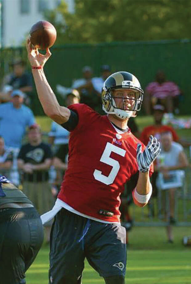 Rams quarterback Nick Foles on Friday agreed to a two-year contract extension before the team's scrimmage at Lindenwood University in St. Charles, Mo. Photo: St. Louis Rams Photo