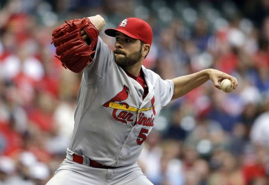 Cardinals starting pitcher Jaime Garcia throws during the first inning of his start against the Brewers on Saturday night in Milwaukee. Photo: Associated Press