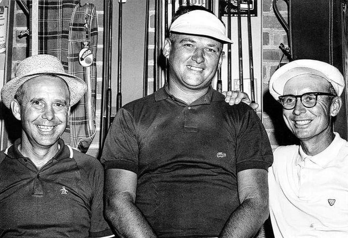 Jerry Barber (right) poses for a photo with brother Willie Barber (left) and Bob Shields. Jerry Barber won the 1961 PGA Championship.