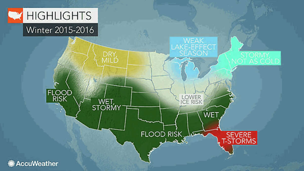 AccuWeather Winter is expected to be milder than last year in the region, according to projections by AccuWeather weather service, with less risk of ice than last winter.