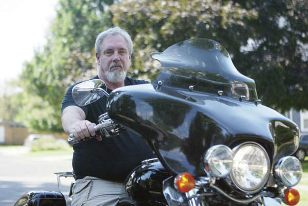 Dave Acker of Jacksonville is a founding member of the local chapter of A Brotherhood Aimed Toward Education (A.B.A.T.E.). He puts his passion for and knowledge of motorcycles to use teaching motorcycle safety sessions to high school students in the area.