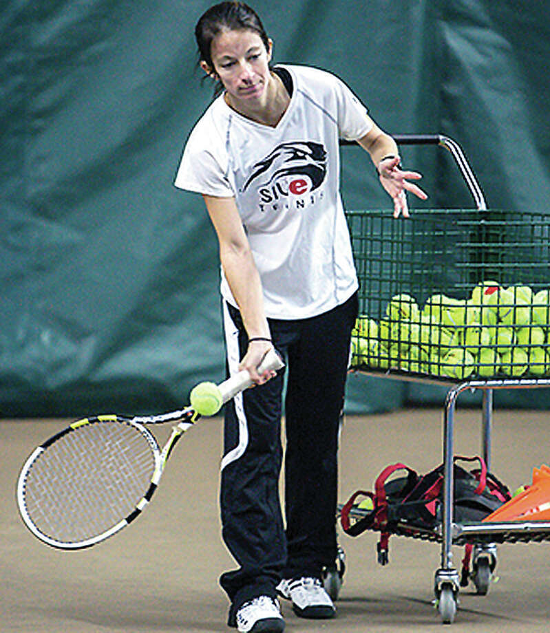 SIUE women's tennis coach Amanda Pratzel is stepping down to become the USTA Missouri Valley Youth Pathway manager. Photo: SIUE Photo