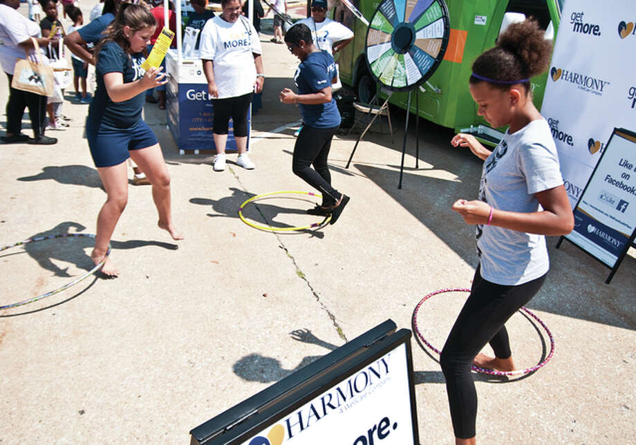 Harmony, a Medicaid and Medicare-only contractor, invited participants to test out their hoola hoop skills.