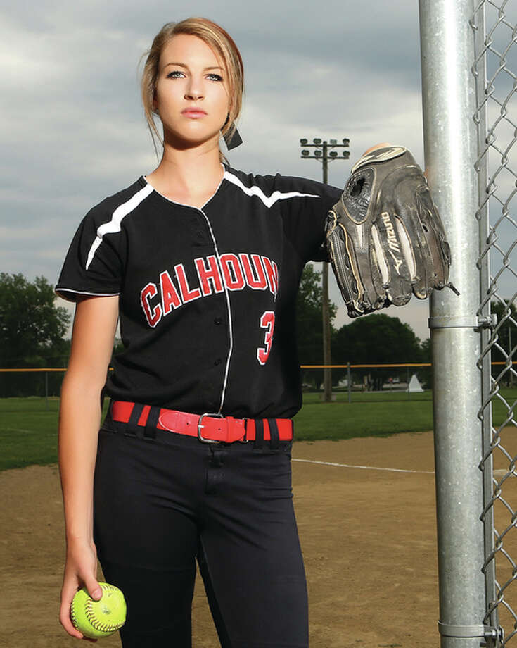 Calhoun junior Grace Baalman has chosen Kentucky softball over Northwestern and Michigan for her college career. Photo: Billy Hurst / For The Journal-Courier