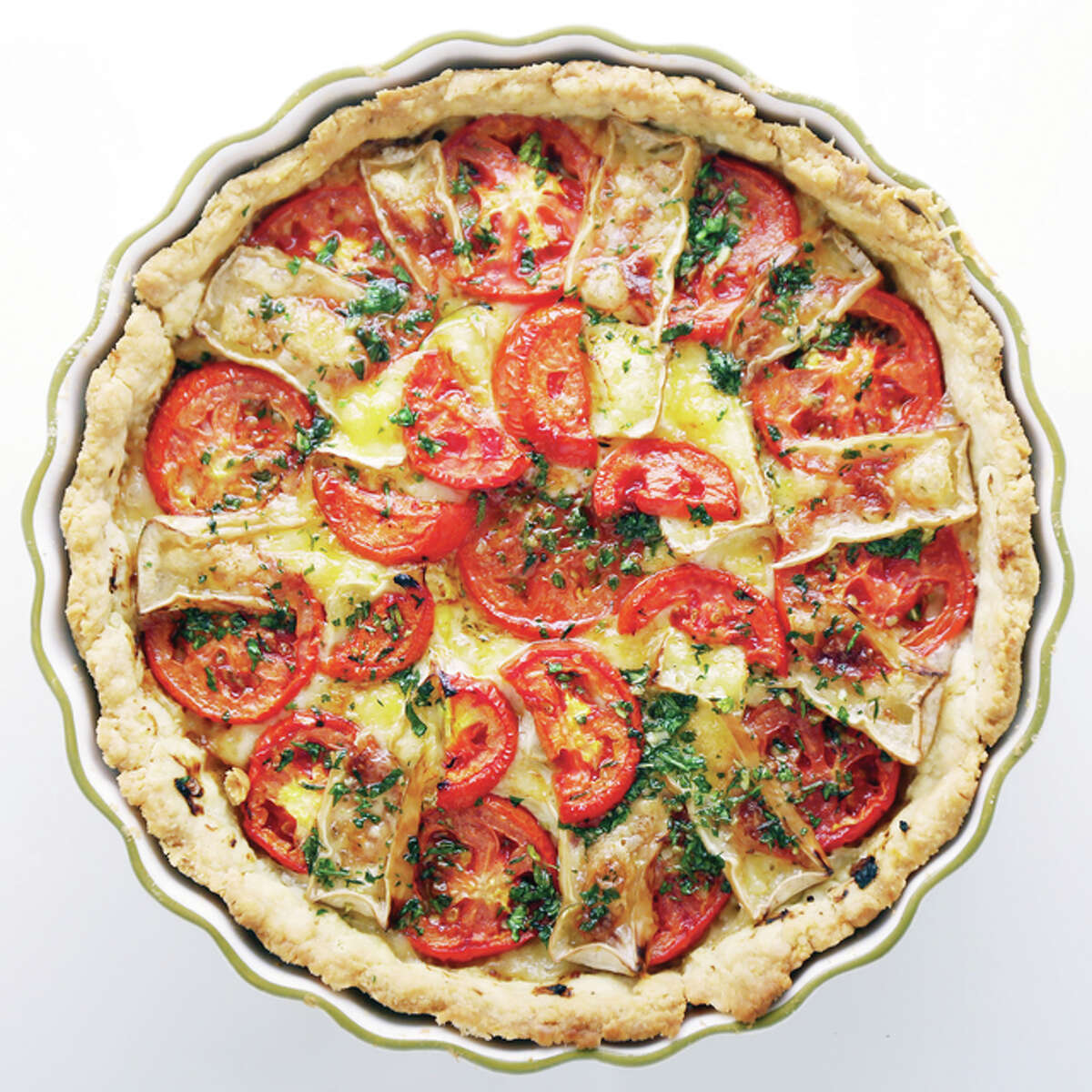 Tomato Tart is savory, not sweet, and well worth saving for company.