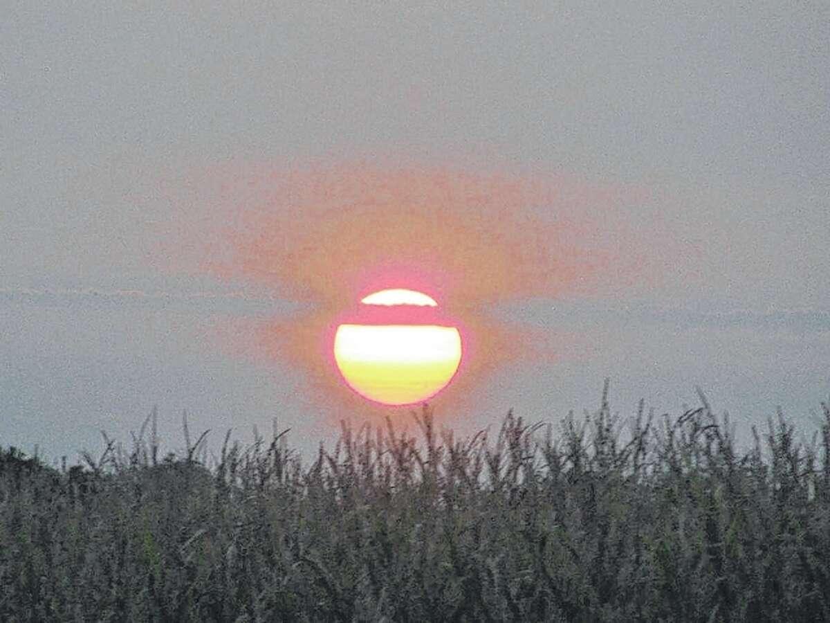 Beverly Watkins | Reader photo The setting sun caught along Nortonville Road near Scottville.