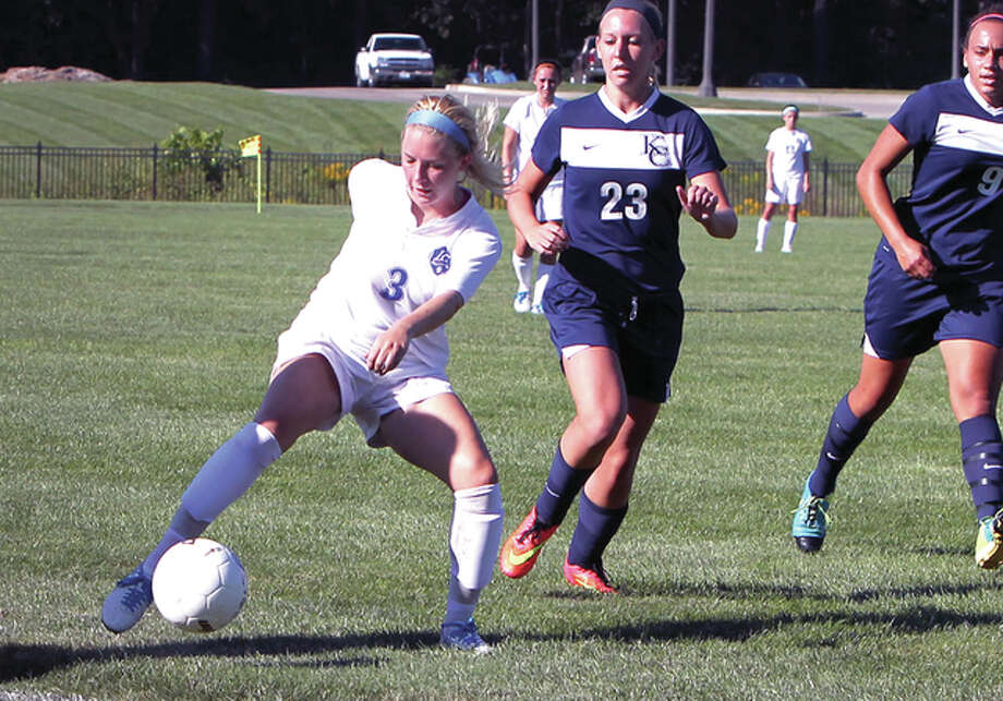 Nicole Howard of LCCC, left, scored four goals in two games over the weekend in wins in Raymond, Mississippi over Hinds Community College and Gulf coast Community College Photo: S. Paige Allen, LCCC | For The Telegraph