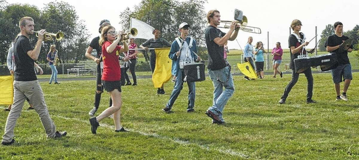 The marching band is a 104-year-old tradition at Jacksonville High School.
