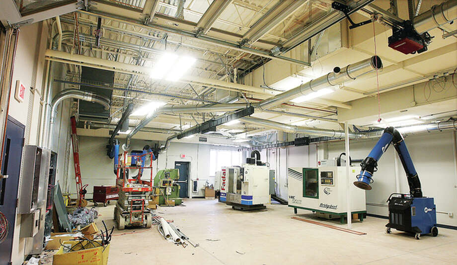 Not yet fully equipped, this lab will have a complete wood shop, metal shop, paint booth and state of the art fabrication equipment when it is completed in October. The college plans an open house to show off the facility on Nov. 12.