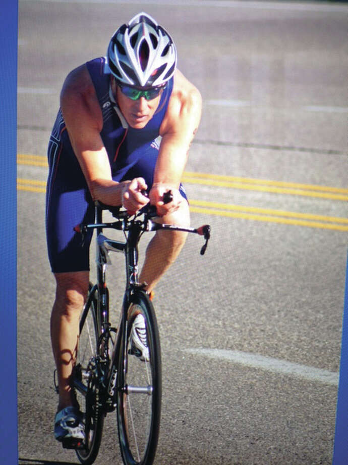 World-class triathlete Patrick McCreary, of Alton, has just completed his 189th race in 28 years. His workouts are not just physical exercise, but a time of prayer.