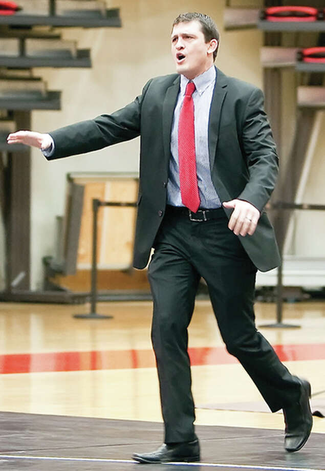 SIUE wrestling coach Jeremy Spates has announced his team's upcoming schedule, which will include seven home dates. Photo: SIUE Athletics